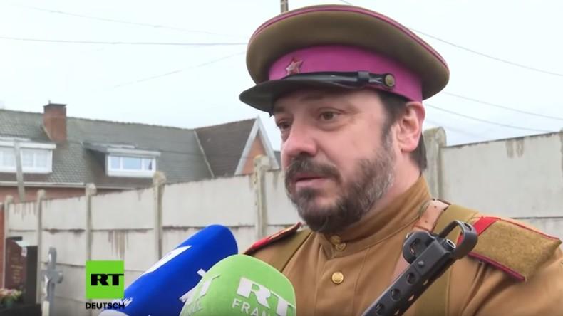 Franzosen gedenken sowjetischen Partisanen zum 75. Jubiläum des Sieges im Zweiten Weltkrieg