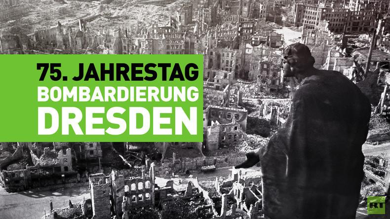 75. Jahrestag der Bombardierung von Dresden