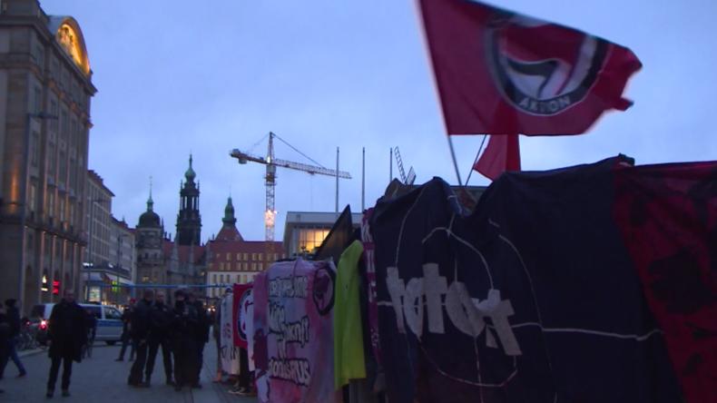 AfD-Gedenken zum 75. Jahrestag der Bombenangriffe auf Dresden trifft auf Gegenprotest
