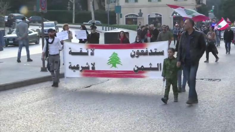 Libanon: Marsch der Opposition gegen neue Regierung