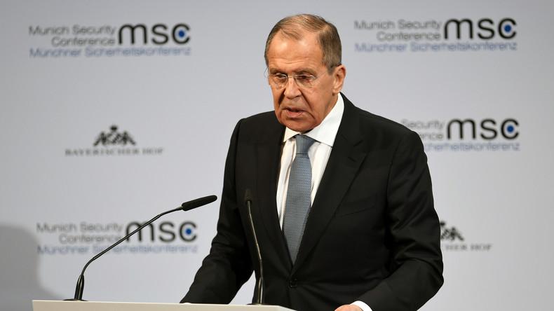 LIVE: Russlands Außenminister Lawrow spricht über Münchener Sicherheitskonferenz