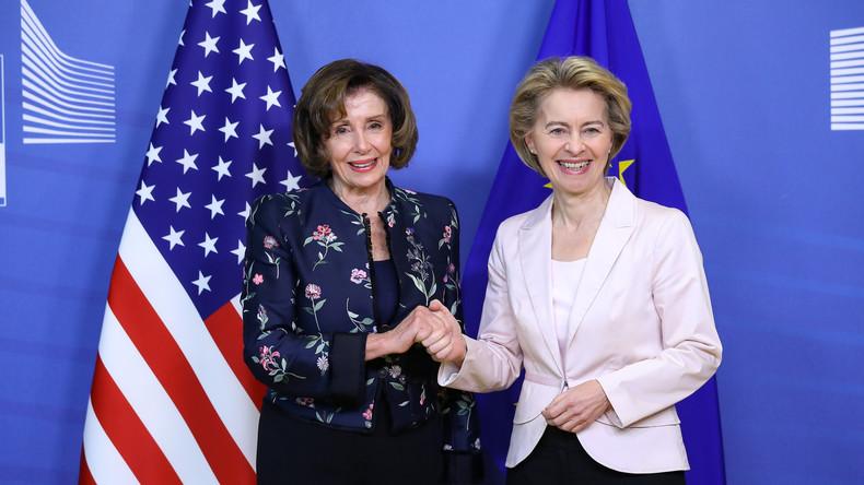 Wer selbst im Glashaus sitzt: Nancy Pelosi auf Anti-Huawei-Tour durch Europa (Video)