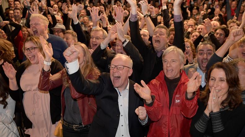 """Hamburg-Wahl: SPD-Anhänger skandieren bei der Wahlparty """"Nazis raus"""" (Videos)"""