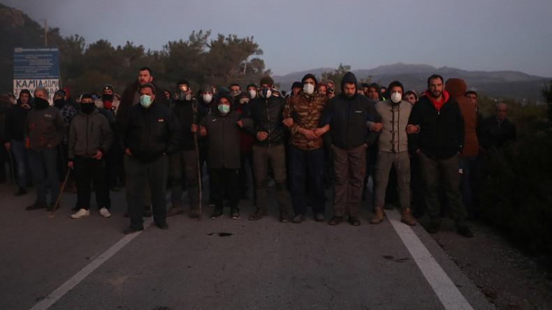 Gegen den Bau neuer Migrantenlager: Generalstreik auf griechischen Inseln