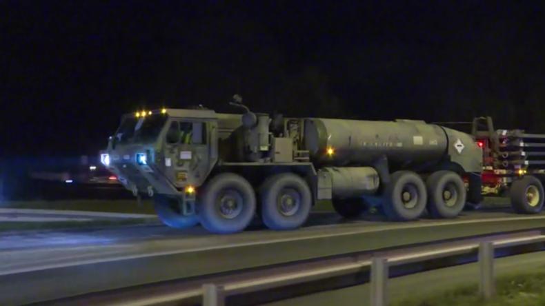 Defender Europe 2020: US-Militär übt schnelles Ausrüsten in Belgien,US-Konvoi trifft in Polen ein