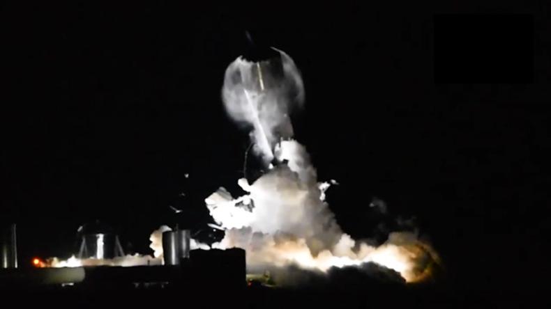 Prototyp des SpaceX-Raumschiffs platzt während des Kryogen-Tests