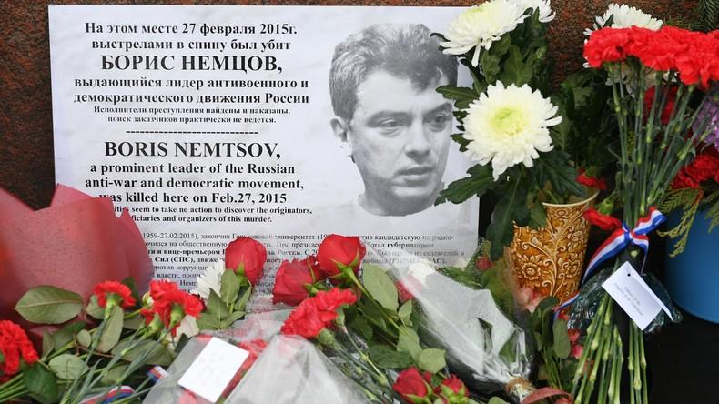 Gedenkmarsch in Moskau zum fünften Jahrestag des Mordes an Boris Nemzow
