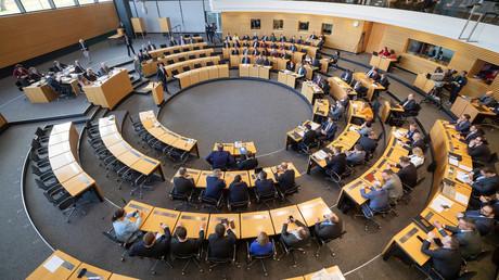 Der amtierende Ministerpräsident Bodo Ramelow stellt sich am 5. Februar 2020 im Thüringer Landtag zur Wiederwahl.