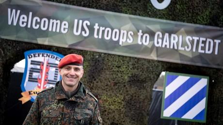 US Defender Europe 2020 ist ein Kriegsrollenspiel gegen Russland – egal, was behauptet wird (André Erich Denk von der Logistikschule der Bundeswehr im niedersächsischen Osterholz-Scharmbeck in der Life Support Area genannten Zeltstadt in Garlstedt, 23. Januar 2020)