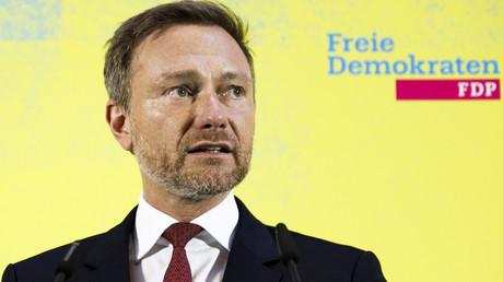 Christian Lindner, Parteivorsitzender der FDP, gibt am 5. Februar 2020 in Berlin eine Stellungnahme zur Wahl seines Parteifreundes Thomas Kemmerich zum Ministerpräsidenten des Landes Thüringen ab.