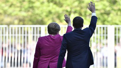 Archivbild: Angela Merkel und Emmanuel Macron in Berlin im Mai 2017