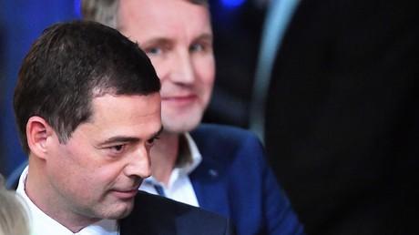 Wer wird von den Neuwahlen profitieren? Die Thüringer Spitzenkandidaten der CDU Mike Mohring (vorne) und der AfD Björn Höcke