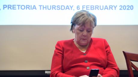 Merkel am vergangenen Donnerstag in Pretoria