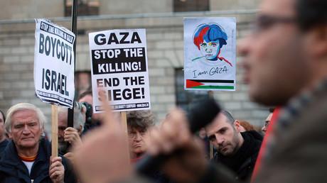 Symbolbild: Proteste in Dublin gegen israelische Besatzung und Angriffe auf Gaza, 17. November 2012