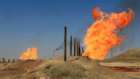 Die Ölfelder in Kirkuk, Irak