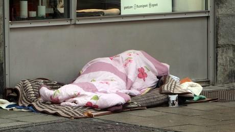Symbolbild: Schlafstätte eines Obdachlosen in München