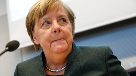 Merkel bei der Unionsfraktionssitzung am Dienstag in Berlin