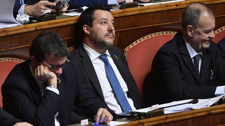 Italiens Ex-Innenminister Matteo Salvini am 12. Februar 2020 im Senat: Dem Lega-Chef wurde die parlamentarische Immunität aufgehoben.