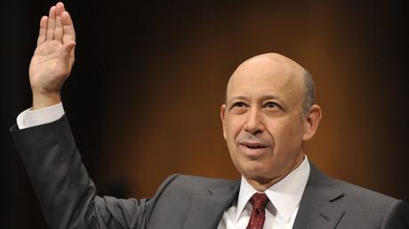 Als noch amtierender Generaldirektor von Goldman Sachs muss Lloyd Blankfein zur Rolle der Wallstreet Officer und der Investmentbanken während der Finanzkrise aussagen, Washington, D.C., 2010