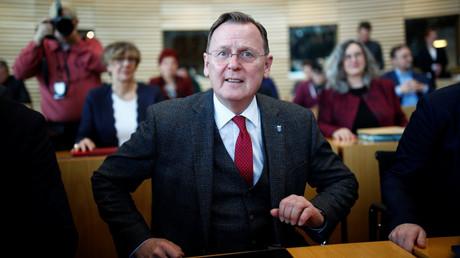 Kommt Bodo Ramelow (Die Linke) – hier am 5. Februar 2020 im Thüringer Landtag in Erfurt kurz vor der Wahl eines neuen Ministerpräsidenten – mit Stimmen der CDU doch noch erneut ins Amt?