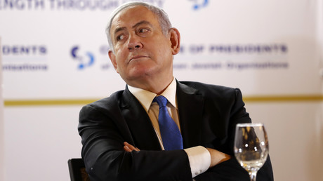 Israels Ministerpräsident Benjamin Netanjahu nimmt an der Conference of Presidents of Major American Jewish Organisations am 16. Februar in Jerusalem teil.