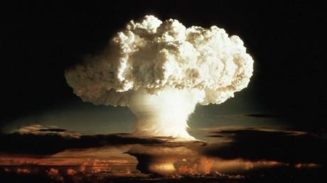 (Symbolbild). Der Atompilz des ersten Tests einer Wasserstoffbombe,