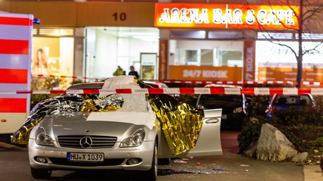 Eines der Tatorte in der hessischen Stadt Hanau, wo am 19.02.2020 ein Mann mehrere Menschen erschossen hat. Neun von ihnen hatten einen Migrationshintergrund.