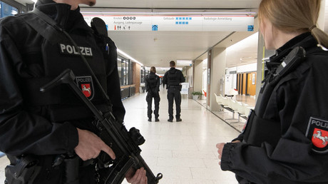 Polizisten in Hannover