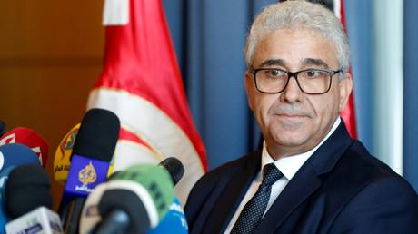 Erhofft sich Stabilität durch US-Truppen: Libyens Innenminister Fathi Baschagha bei einer Pressekonferenz in Tunis (26. Dezember 2019)