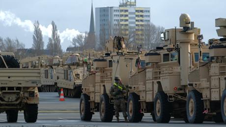 Ankunft von US-Kriegsgerät am 21. Februar in Bremerhaven für die Großübung Defender Europe 2020