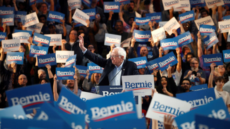 Frenetisch gefeiert: Bernie Sanders auf einer Wahlkampfveranstaltung in Houston (23. Februar 2020)