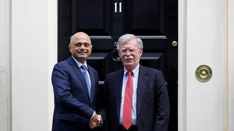 Sajid Javid empfängt John Bolton am 13.08.19 zu einem Arbeitsbesuch in London.