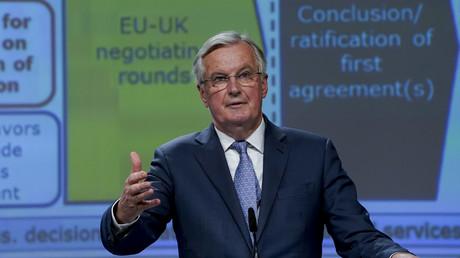 EU-Brexit-Chefunterhändler Michel Barnier hat noch einige harte Monate vor sich, um ein Freihandelsabkommen mit Großbritannien auszuhandeln (Bild vom 3. Februar).