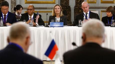 Die fünf ständigen UN-Sicherheitsratsmitglieder trafen sich am 30. Januar 2019 zu einer Konferenz zum Atomwaffensperrvertrag in Peking.