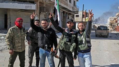 Dschihadistische Kämpfer in Idlib. Sie werden in erster Linie von der Türkei unterstützt.