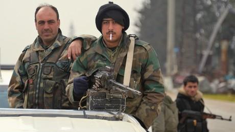 Soldaten der Syrisch-Arabischen Armee westlich von Aleppo, 19. Februar 2020