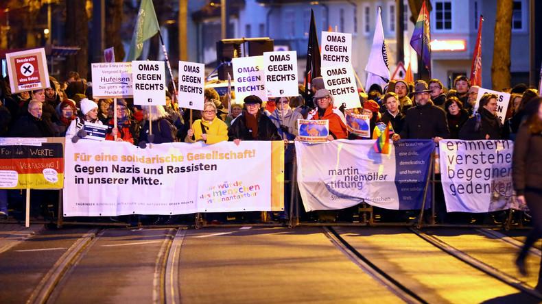 LIVE: AfD-Unterstützer demonstrieren in Erfurt – Gegendemonstranten wollen Marsch blockieren