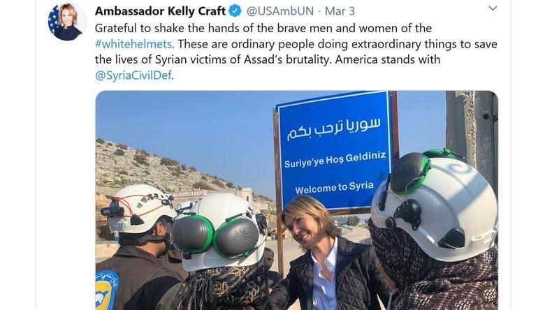"""""""Treffen mit der 'medizinischen' Abteilung von al-Qaida"""" – US-Diplomatin bei den Weißhelmen"""