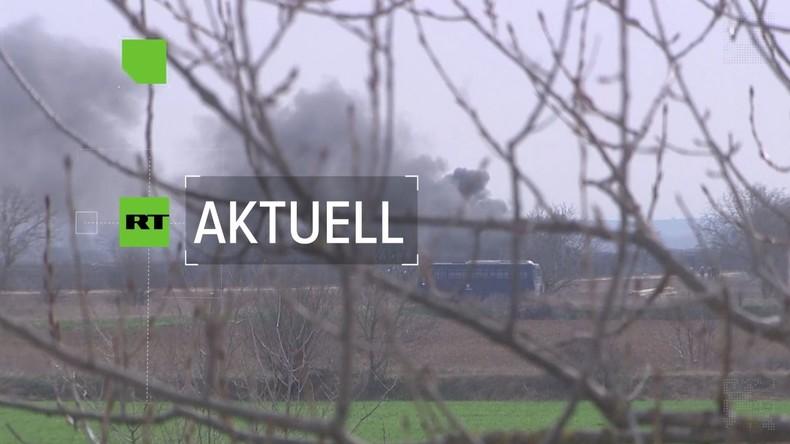 Flüchtlingsstreit: Wieder Tränengas an griechischer Grenze (Video)