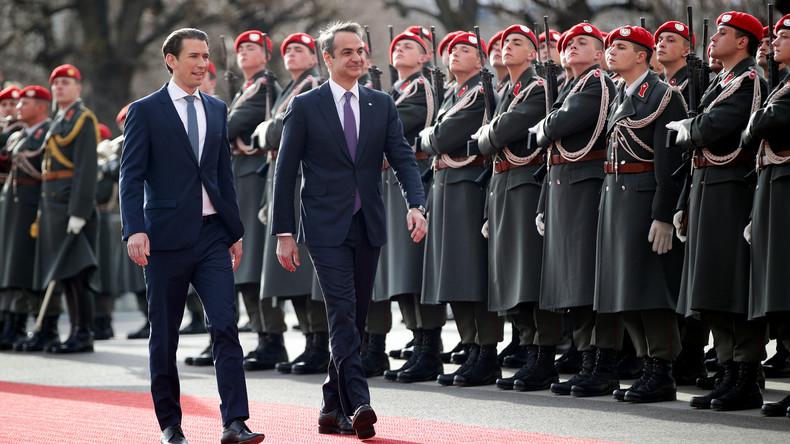 LIVE: Pressekonferenz von Sebastian Kurz und dem griechischen Ministerpräsidenten Kyriakos Mitsotaki