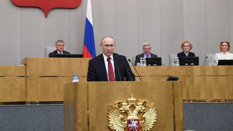 Staatsduma billigt Verfassungsänderung: Putin darf 2024 erneut als Präsident kandidieren