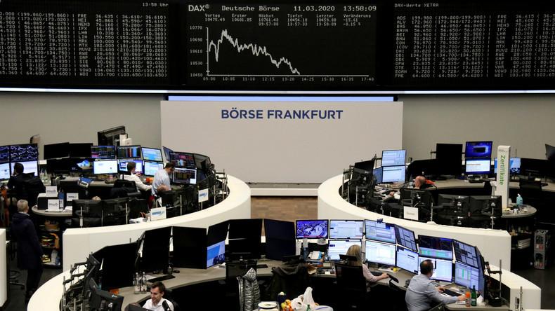 Panikverkäufe an Börsen: DAX fällt unter 10.000 Punkte