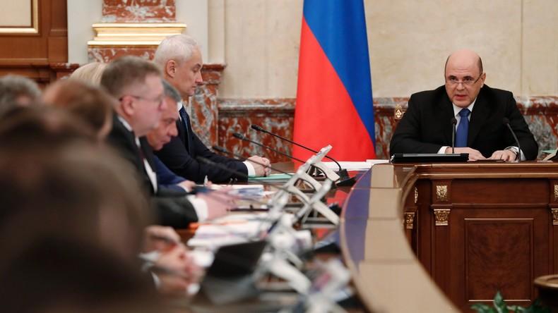 Premierminister: Russland verfügt über alle Instrumente zur Aufrechterhaltung der Finanzstabilität