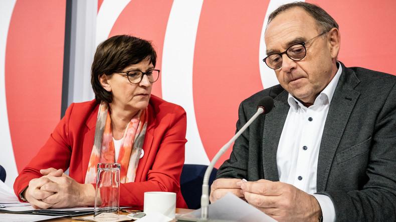 Ausstrahlung gesucht: Esken und Walter-Borjans verzichten auf Kanzlerkandidatur