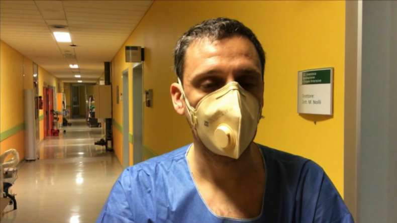 Italien: Im Inneren einer Notaufnahme für Coronavirus-Patientenim Krankenhaus vonPiacenza