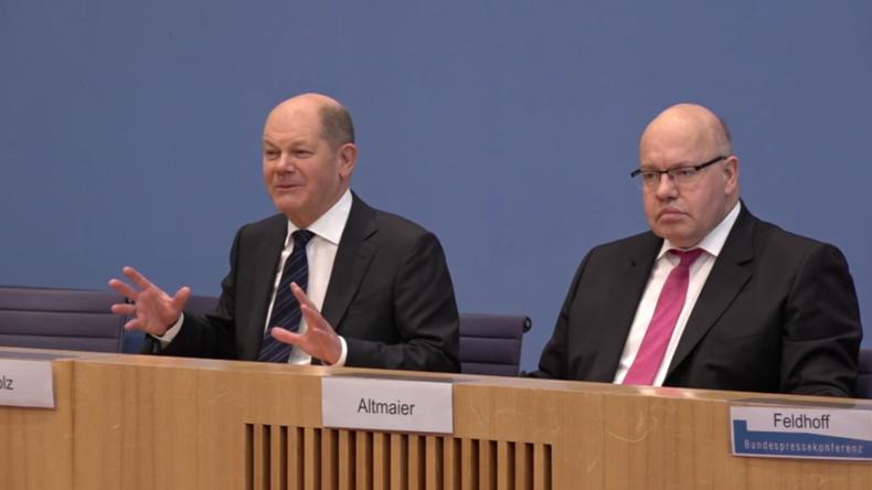 """""""Bazooka"""" gegen Coronavirus – Vizekanzler Scholz kommentiert Wirtschaftshilfepaket"""