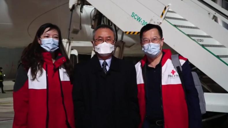 Italien: Chinesisches Rotes Kreuz bringt Ärzte und medizinische Hilfsgüter gegen das Coronavirus