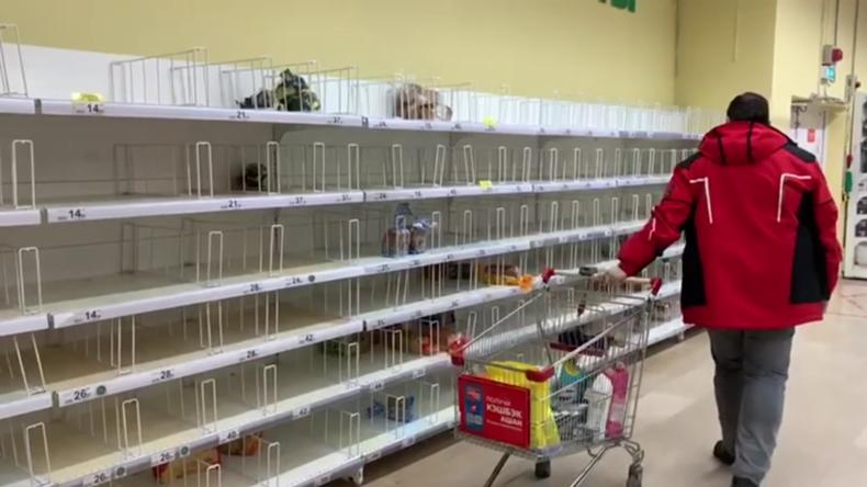 Russland: Leere Regale im Moskauer Supermarkt – Coronavirus-Situation 'unter Kontrolle'