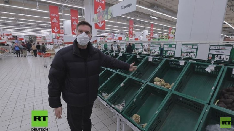 Ansturm auf Öl, Nudeln, Toilettenpapier: Reportage über die Hamsterkäufe in Moskau