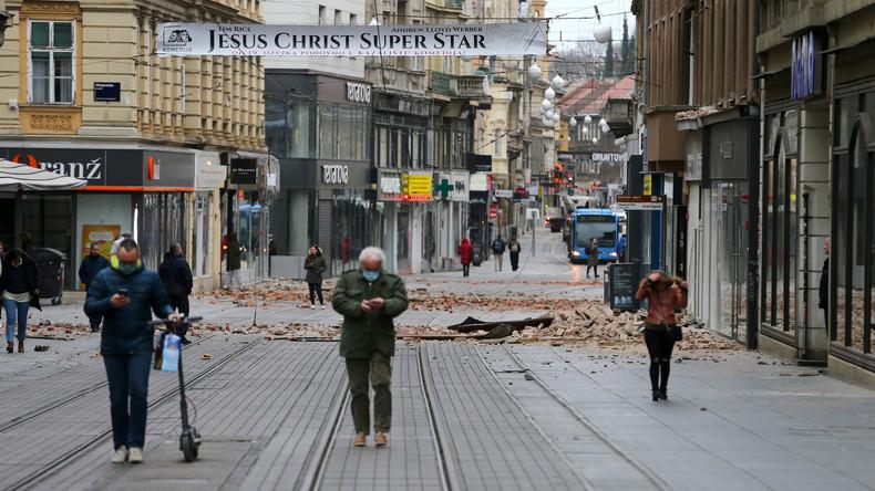 Verletzte und Schäden durch Erdbeben in Kroatien
